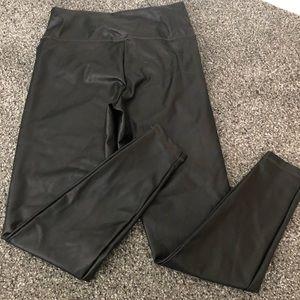 Athleta faux leather black leggings